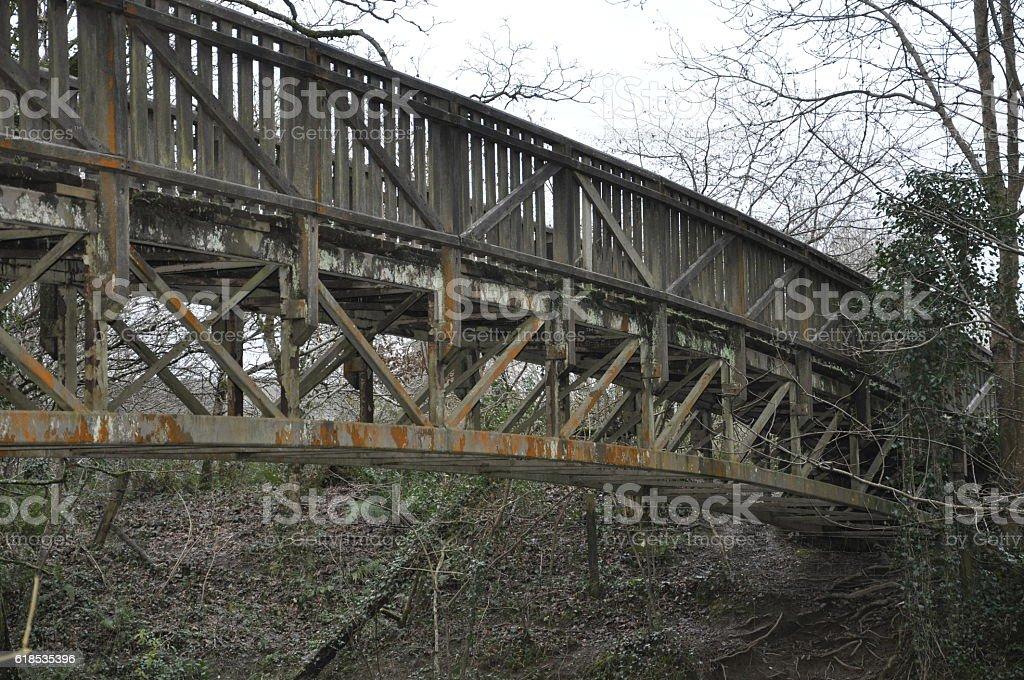 Bridge Now get Over It stock photo