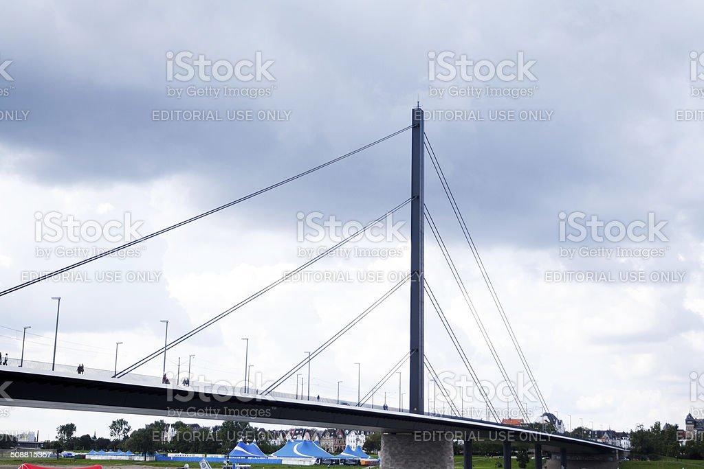 Bridge Oberkasseler Br?cke in D?sseldorf stock photo