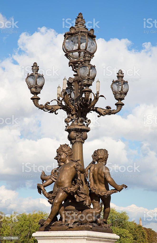 Bridge of Alexandre III in Paris stock photo