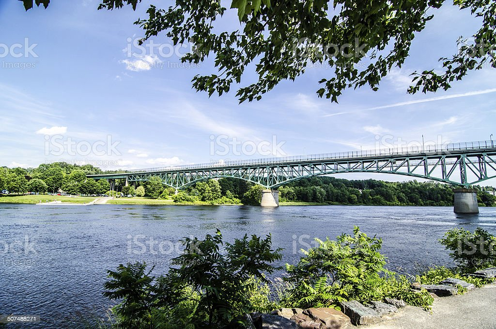 Bridge of Augusta stock photo