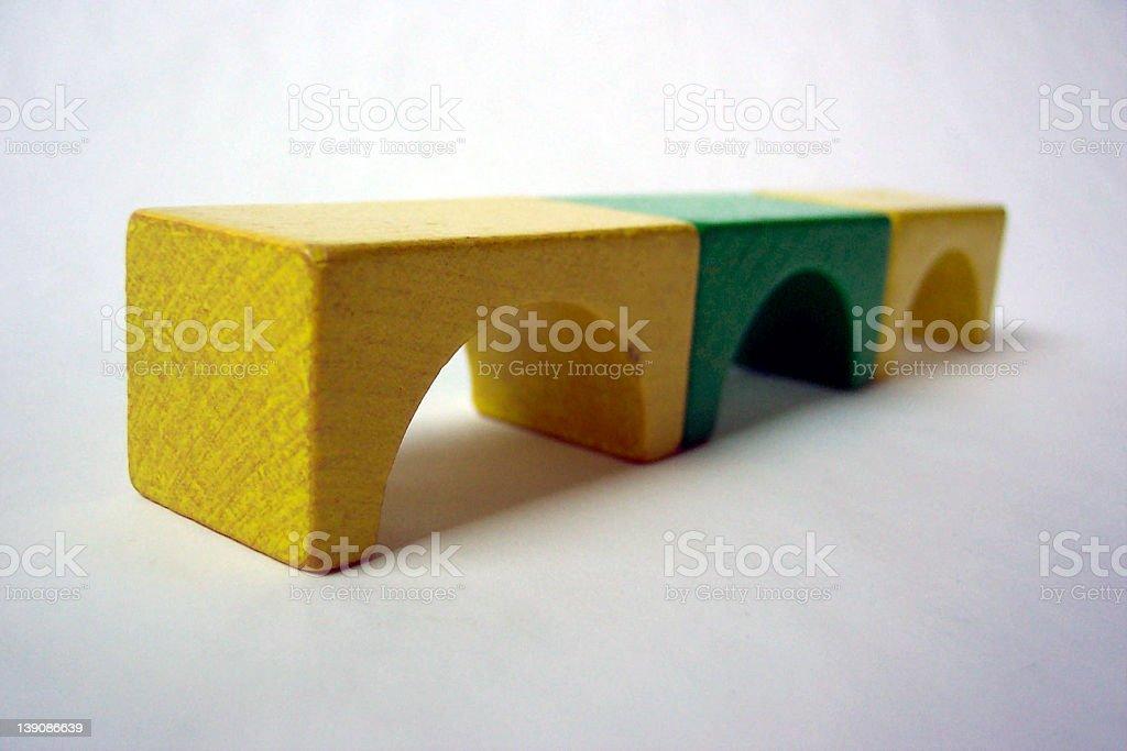 Bridge of building bricks royalty-free stock photo