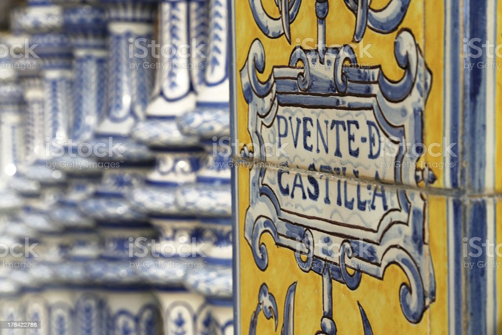 Puente de Castilla Seville royalty-free stock photo