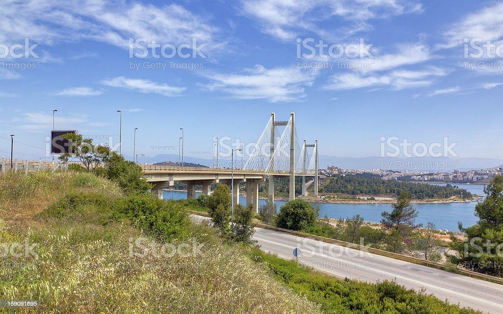 Bridge of Chalkis, Euboea, Greece royalty-free stock photo