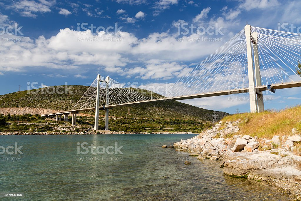 Bridge of Chalkis, Euboea, Greece stock photo