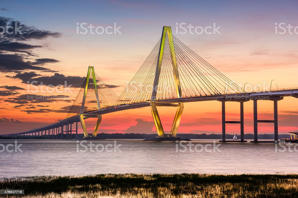 Bridge of Charleston, South Carolina stock photo