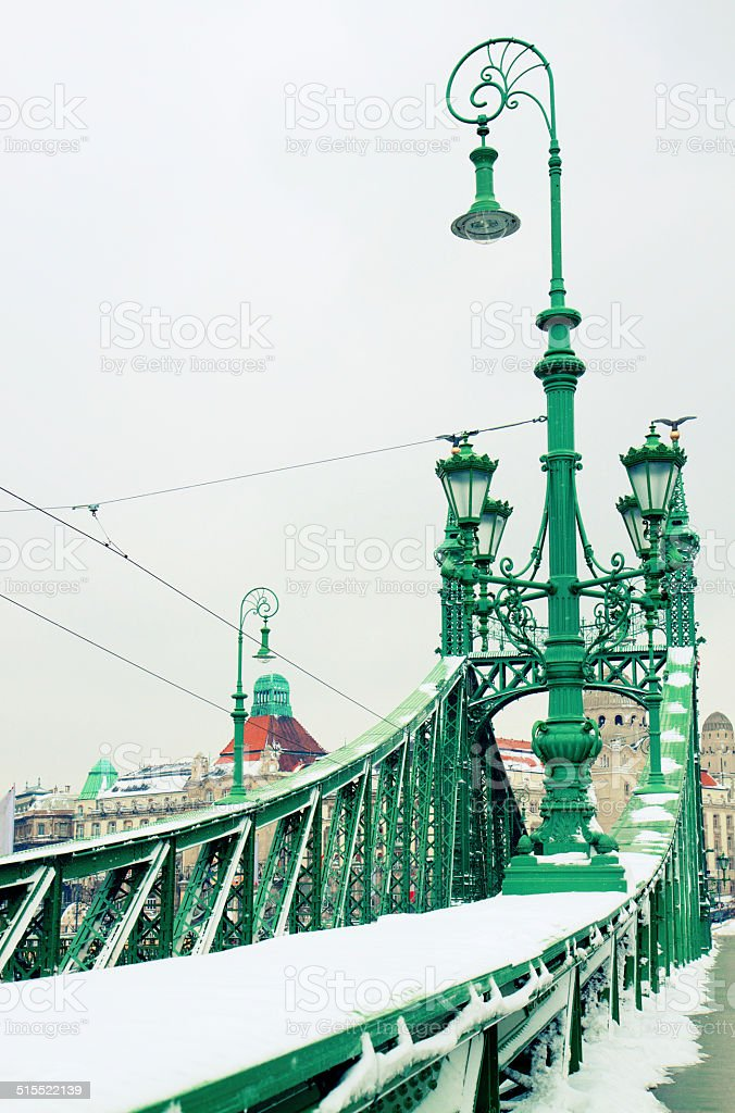 Bridge of Liberty, Budapest stock photo