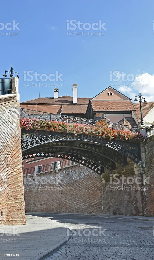 Bridge of Lies from Sibiu city royalty-free stock photo