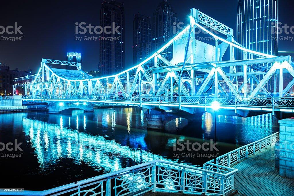 bridge of night stock photo