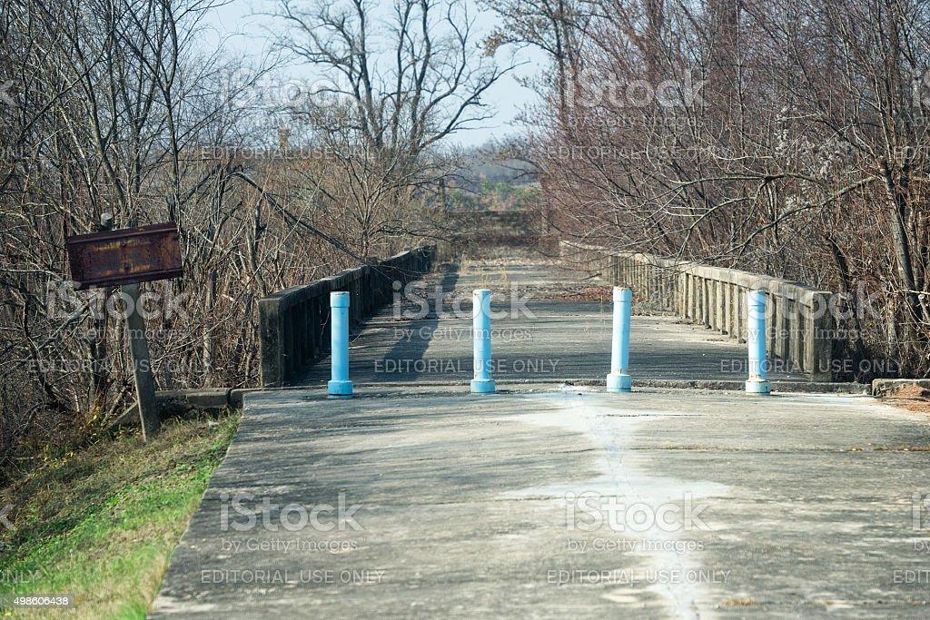 Bridge of No Return at JSA stock photo