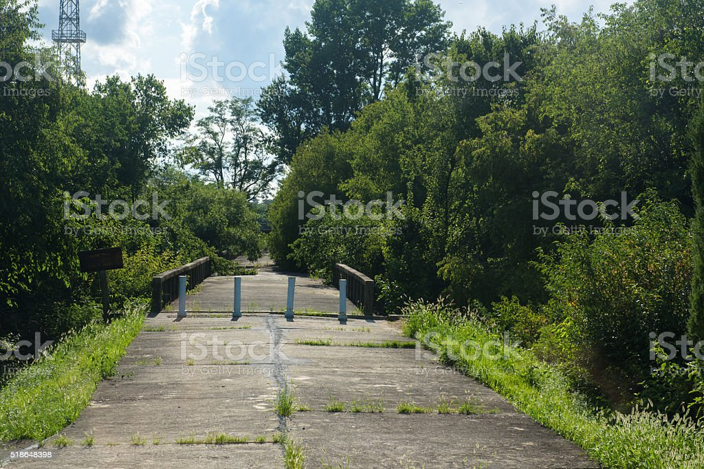 Bridge of No Return stock photo