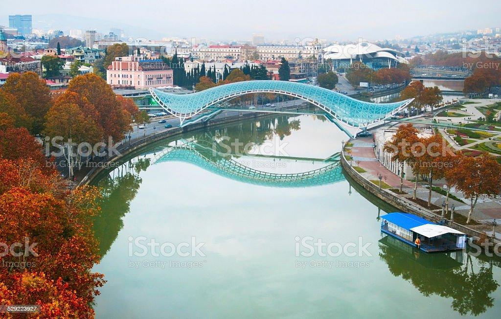 Bridge of Peace, Tbilisi stock photo