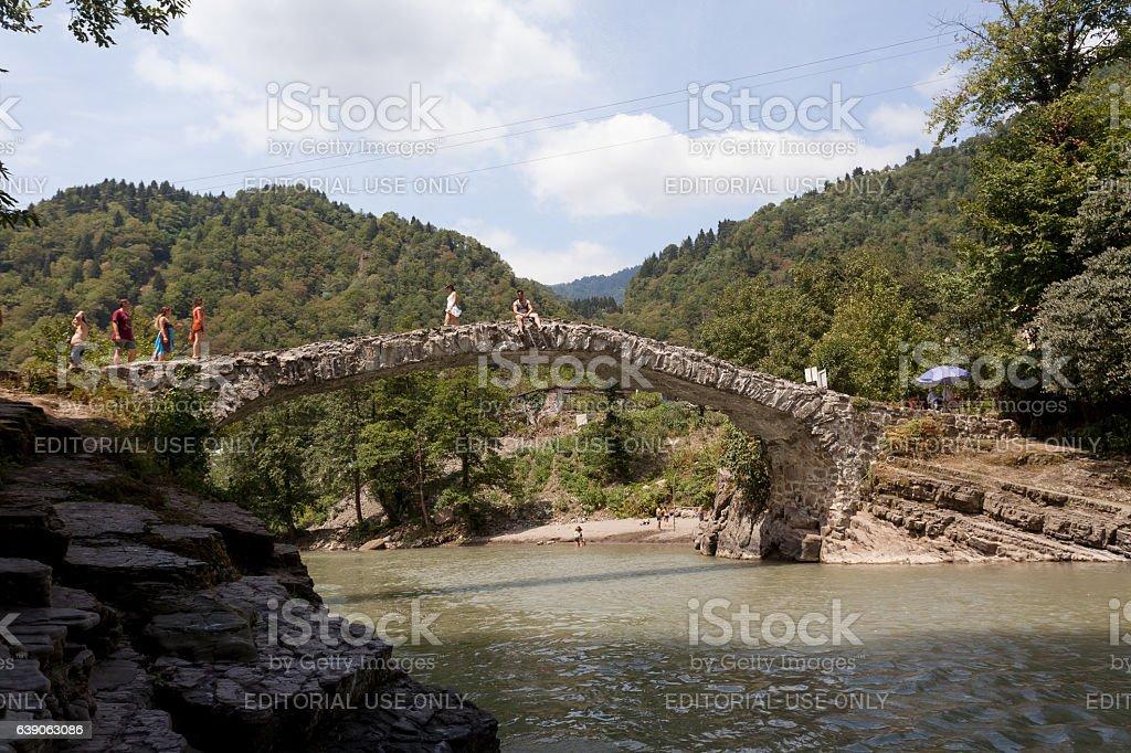 Bridge of Queen Tamara stock photo