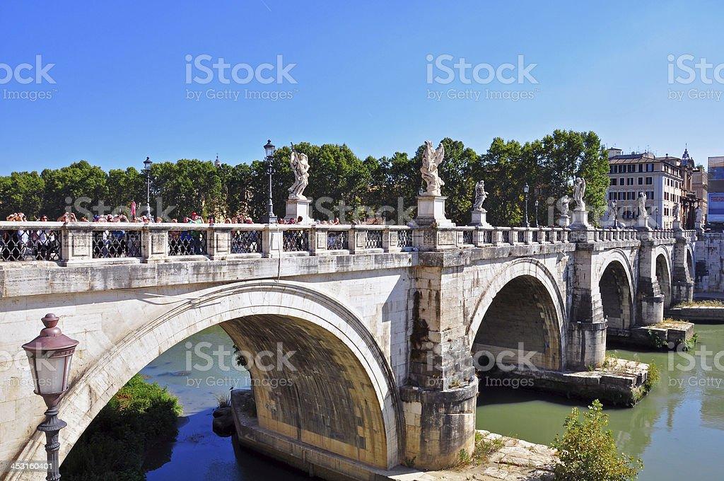 Bridge of Saint Angelo royalty-free stock photo