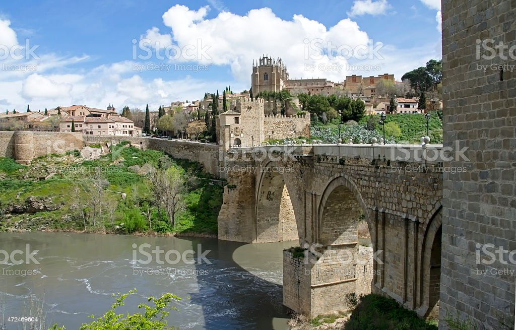 Bridge of San Martin, Toledo, Spain stock photo
