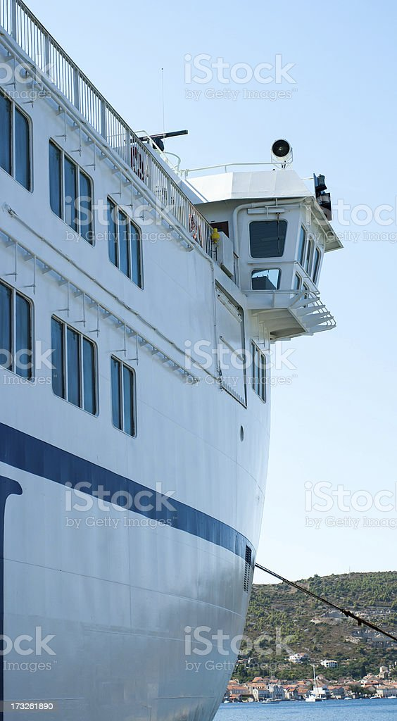 bridge of sea ferry royalty-free stock photo