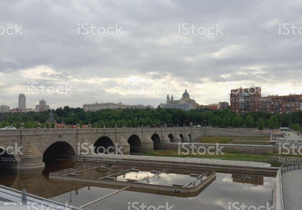 Bridge of segovia stock photo