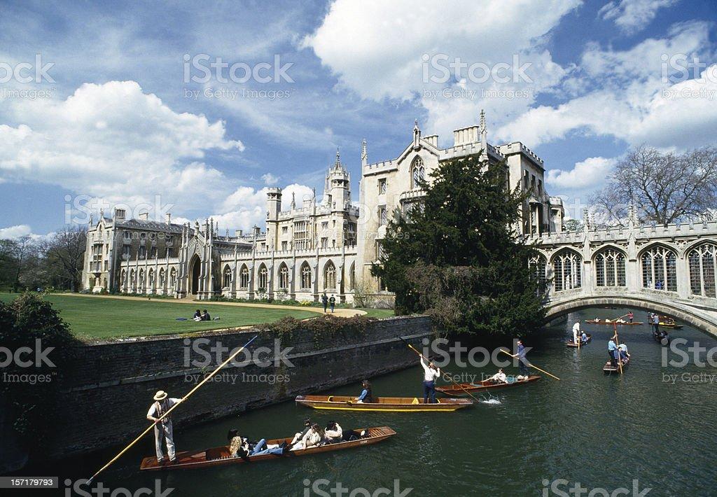 Bridge of Sighs Cambridge, England stock photo