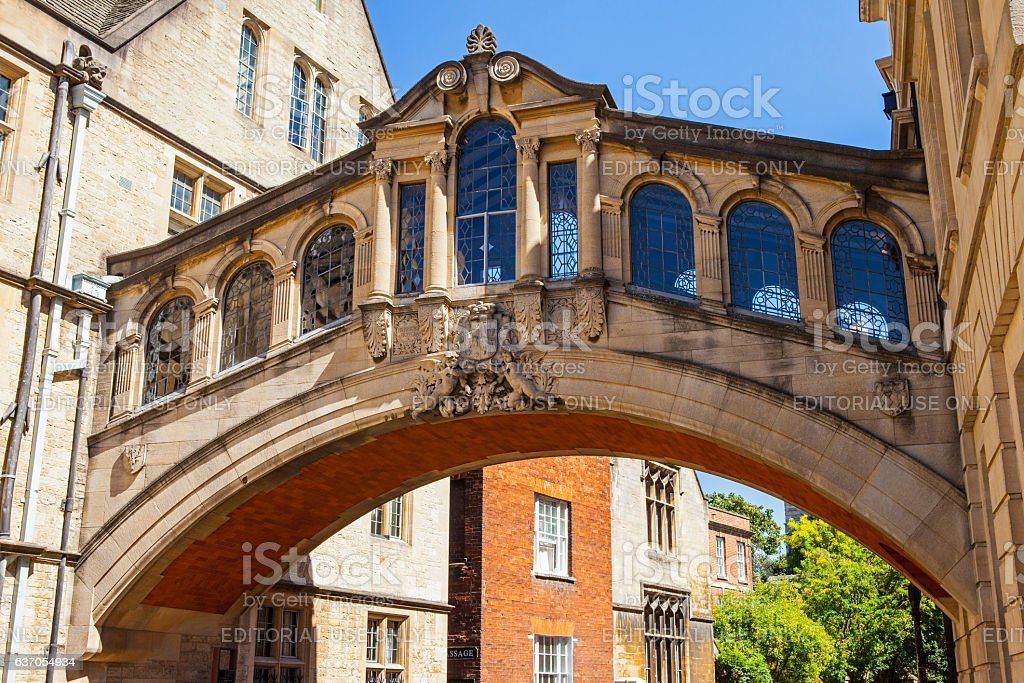 Bridge of Sighs in Oxford stock photo