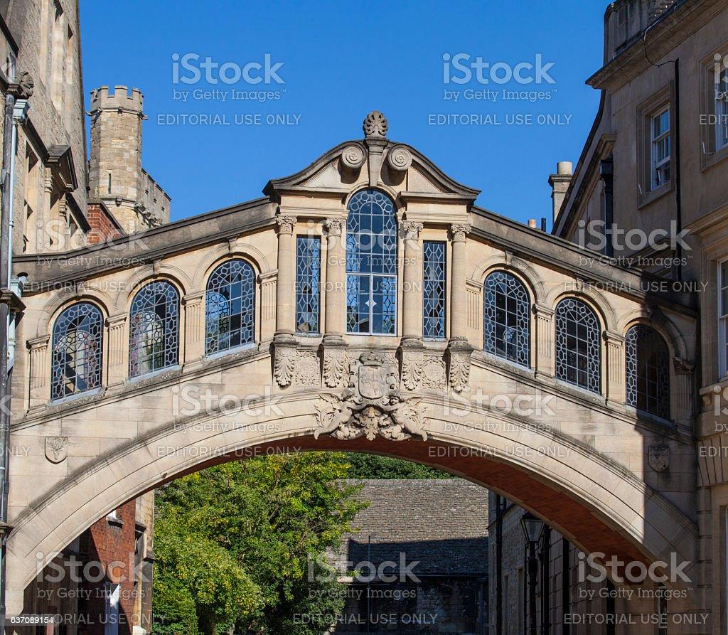 Bridge of Sighs in Oxford stock photo