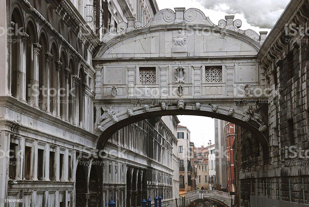Bridge of Sighs in Venice royalty-free stock photo