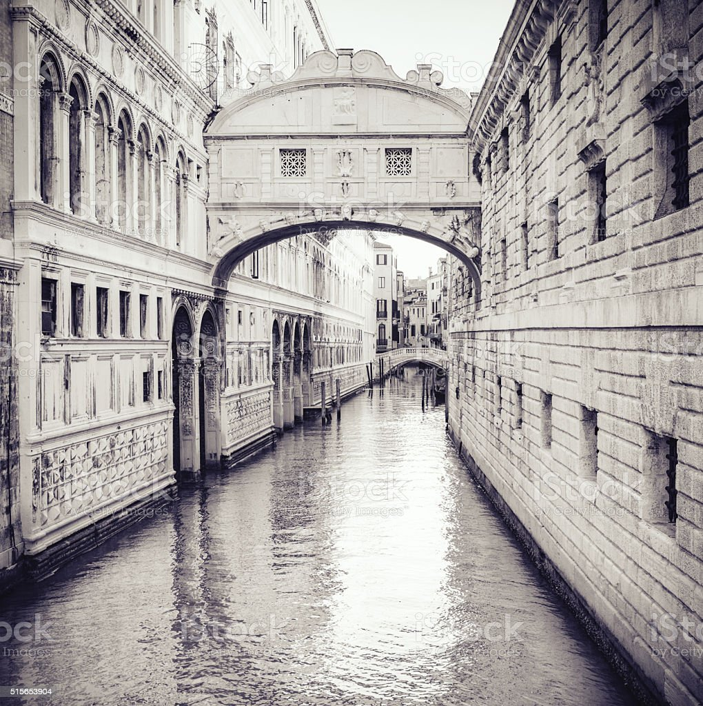 Bridge of Sighs (Ponte dei Sospiri) in Venice stock photo
