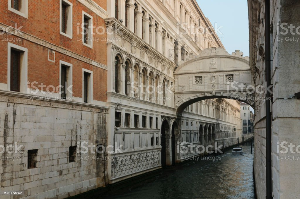 Bridge of Sighs in Venice, Veneto, Italy, Europe stock photo