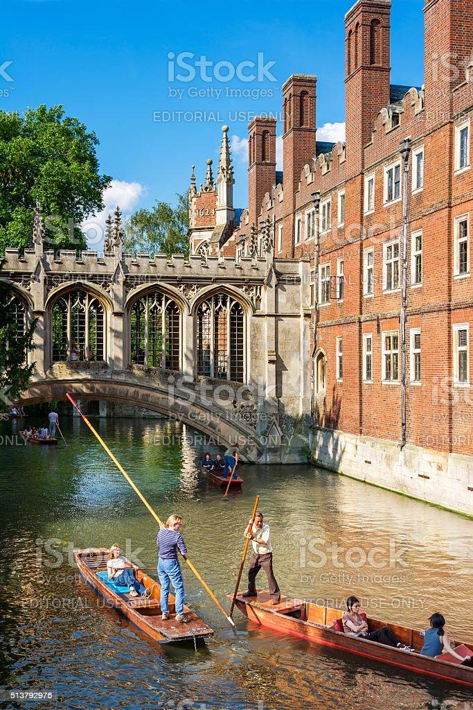 Bridge of Sighs of St John's College, Cambridge, United Kingdom stock photo