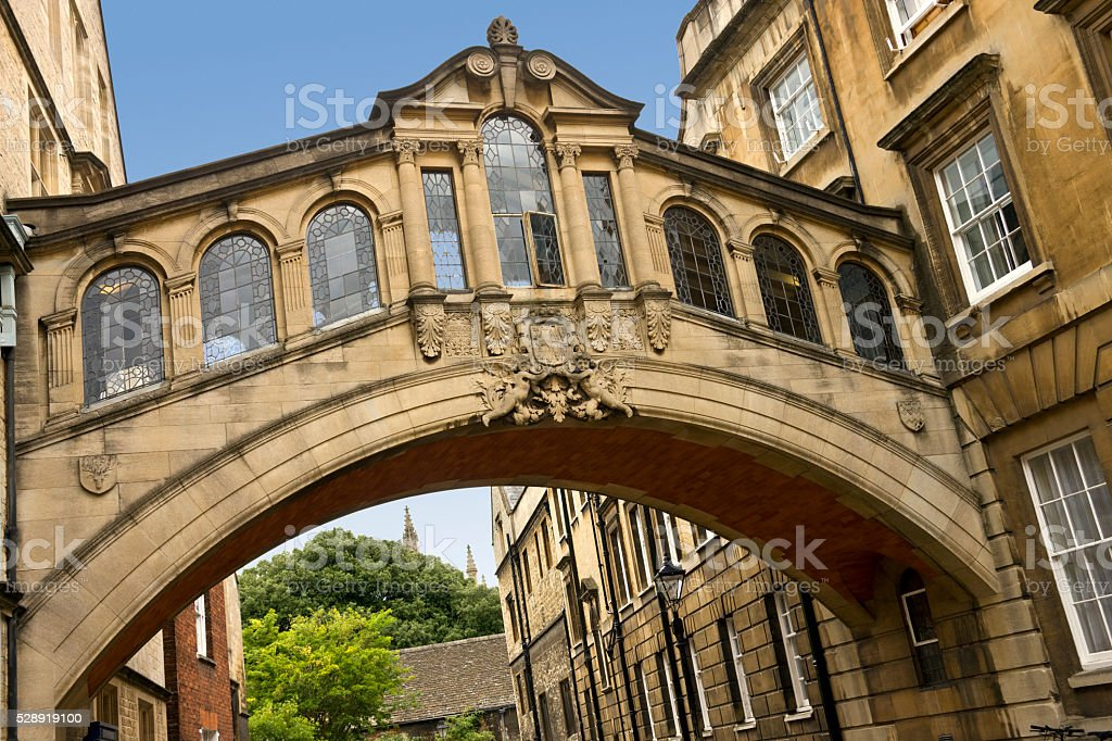 Bridge of Sighs - Oxford - England stock photo