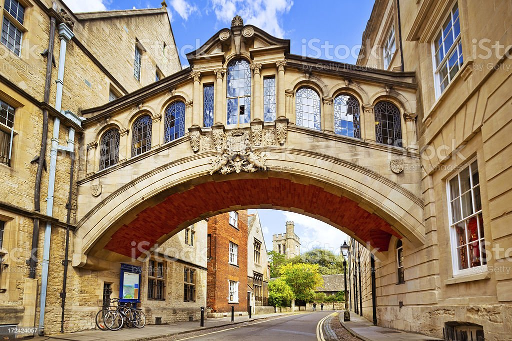 Bridge of Sighs, Oxford stock photo