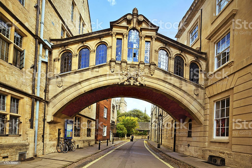 Bridge of Sighs, Oxford royalty-free stock photo