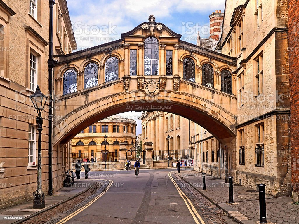 Bridge of Sighs, Oxford University stock photo
