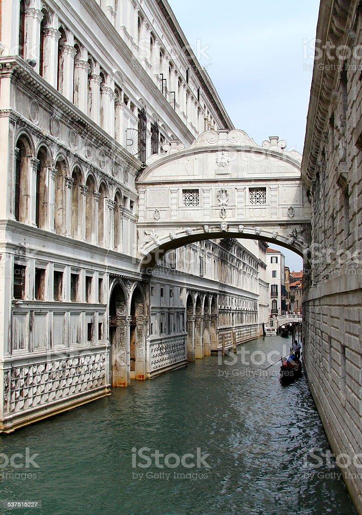 Bridge of Sighs, Palazzo Ducale, Venice, Italy stock photo