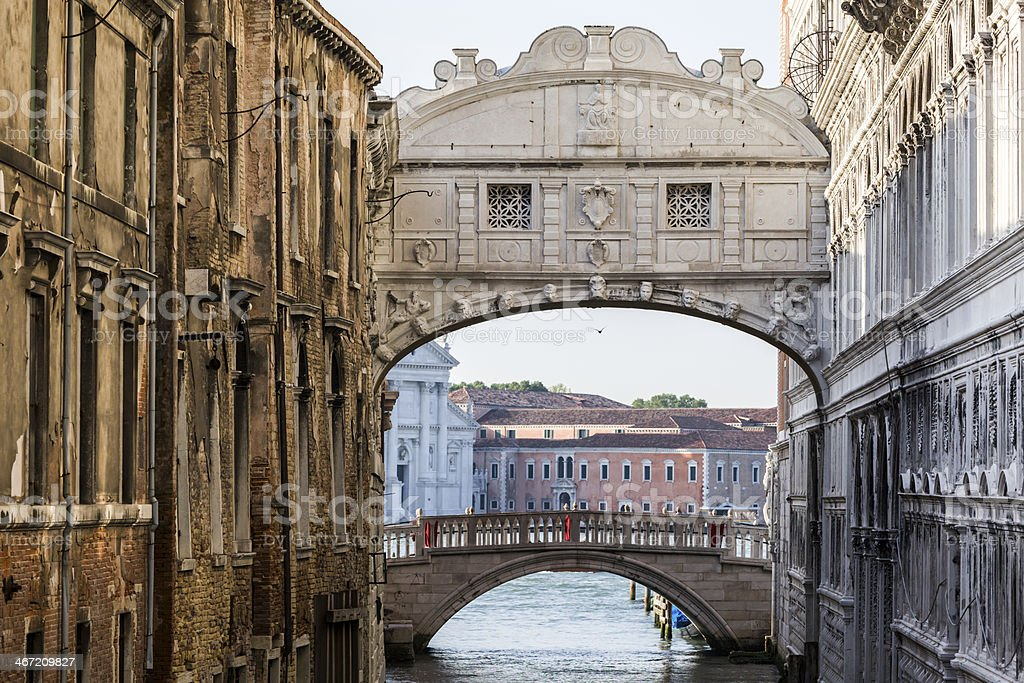 Bridge of Sighs stock photo