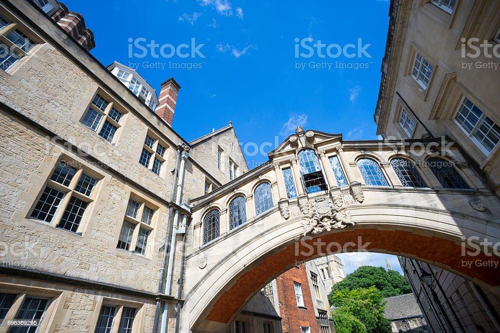 bridge of sighs, university of Oxford, UK stock photo