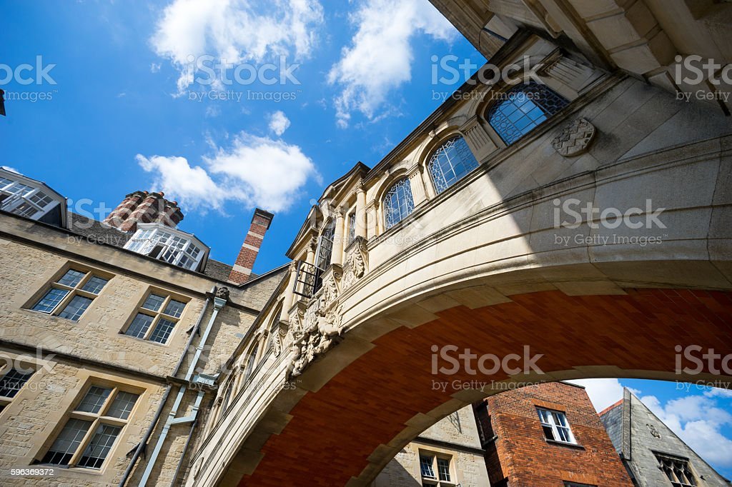 bridge of sighs, university of Oxford, UK stock photo