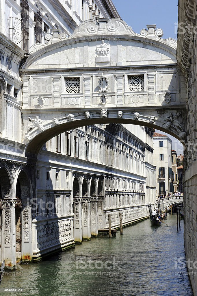Bridge of Sighs, Venice, Italy royalty-free stock photo