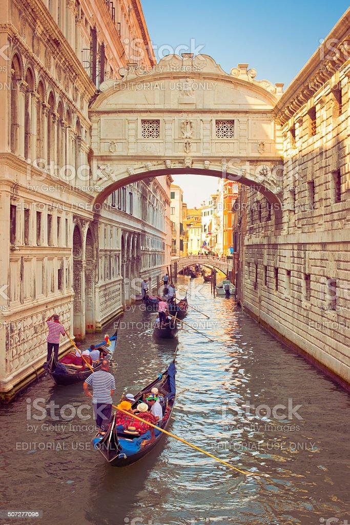 Bridge of Sighs, Venice stock photo