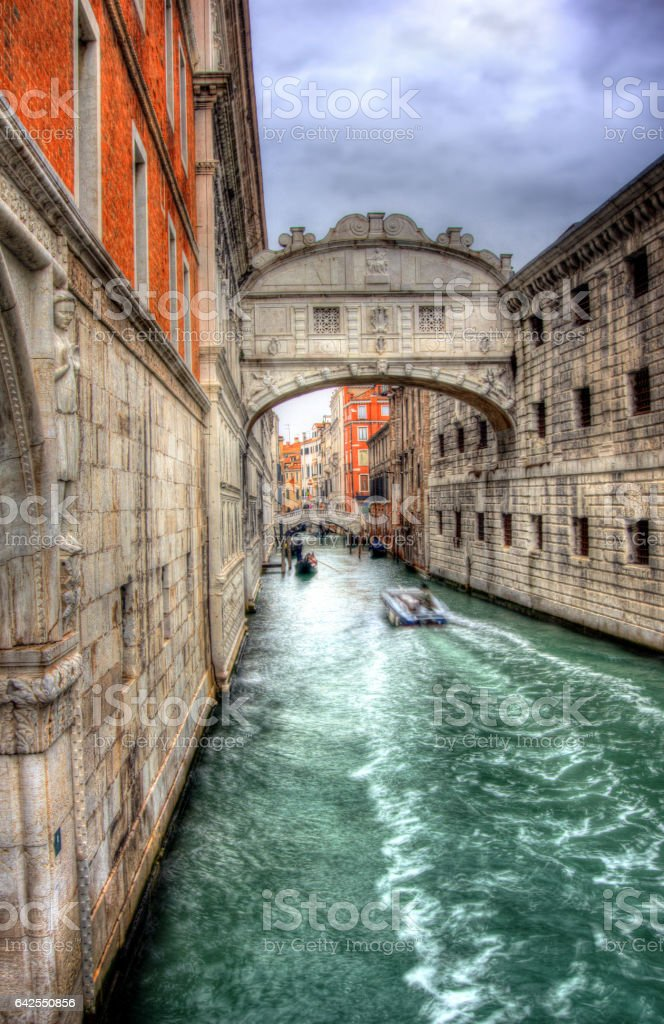 Bridge of Sighs Venice stock photo