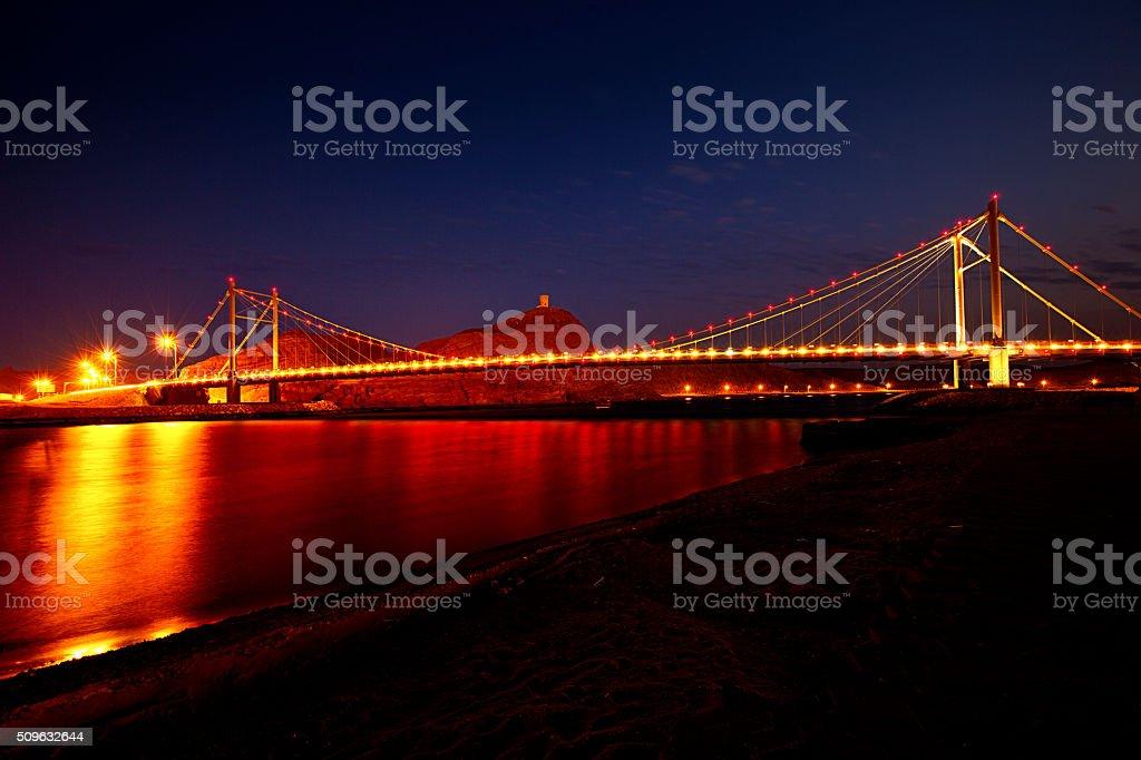 bridge of sur, oman stock photo