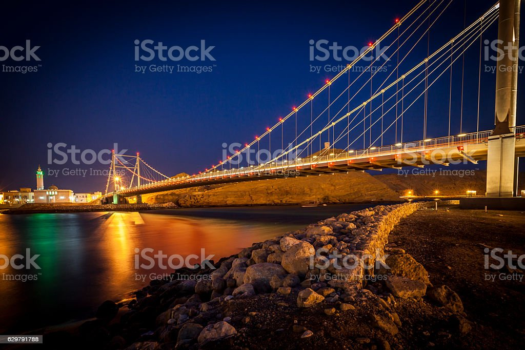 bridge of sur, oman stock photo