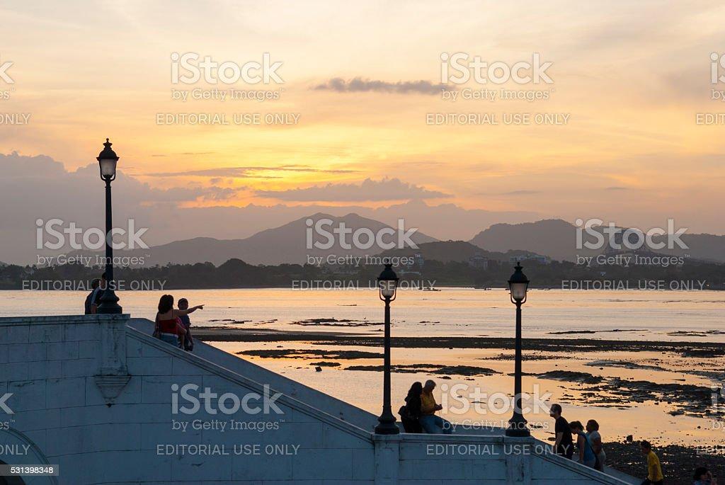 Bridge of the Americas in Panama City, Panama stock photo