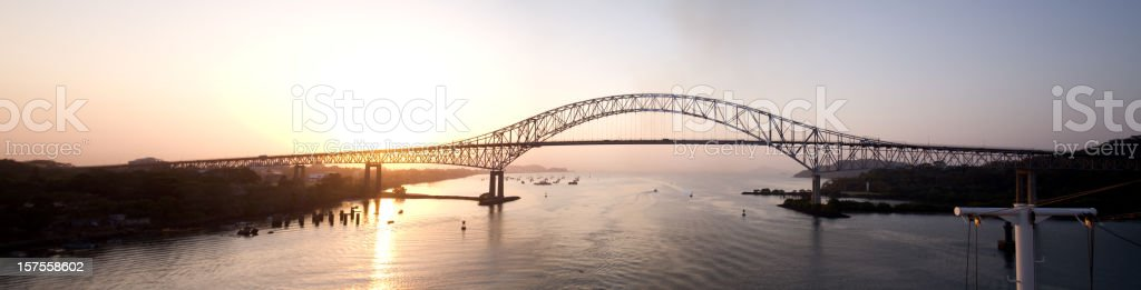 Bridge of the Americas Panama Pano stock photo