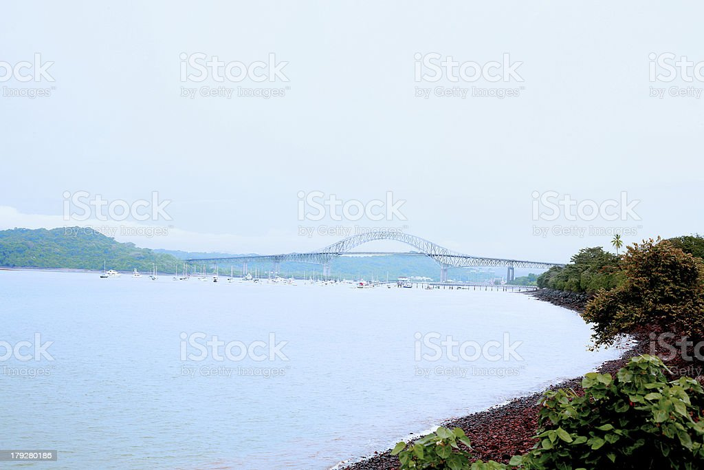 Puente de las Americas Panama royalty-free stock photo
