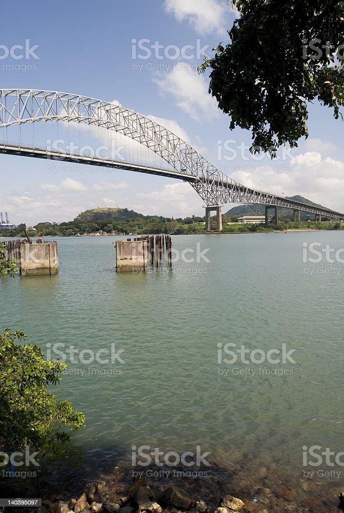 Bridge of the Americas royalty-free stock photo