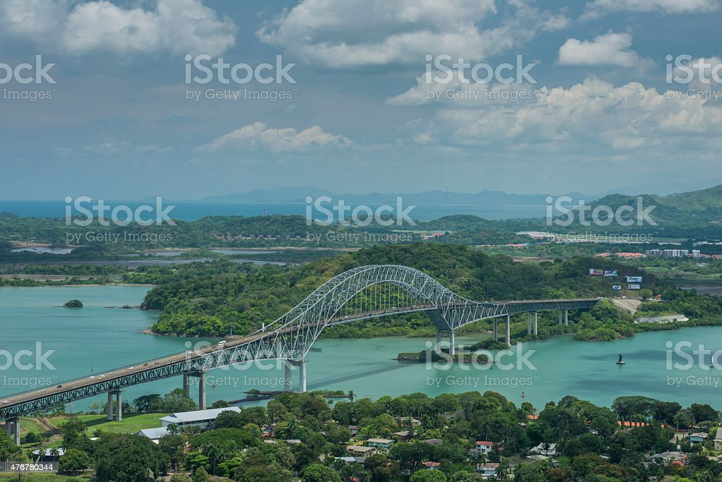 Bridge of the Americas stock photo