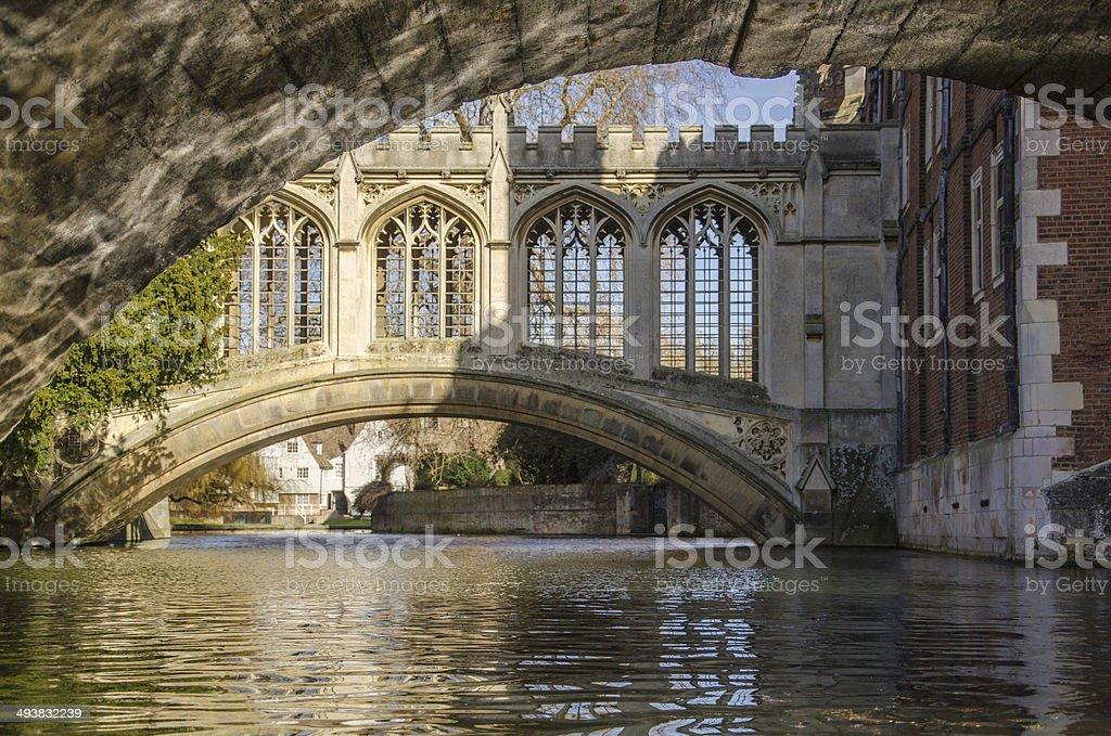Bridge of the sighs, Cambridge. stock photo