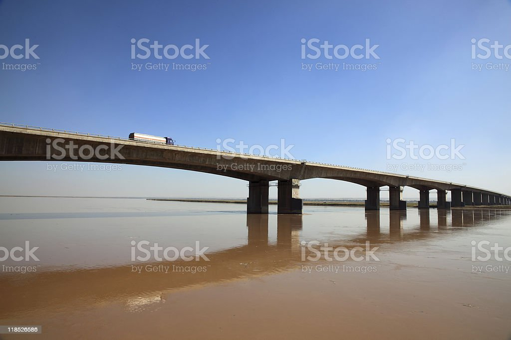 Bridge of the Yellow River royalty-free stock photo