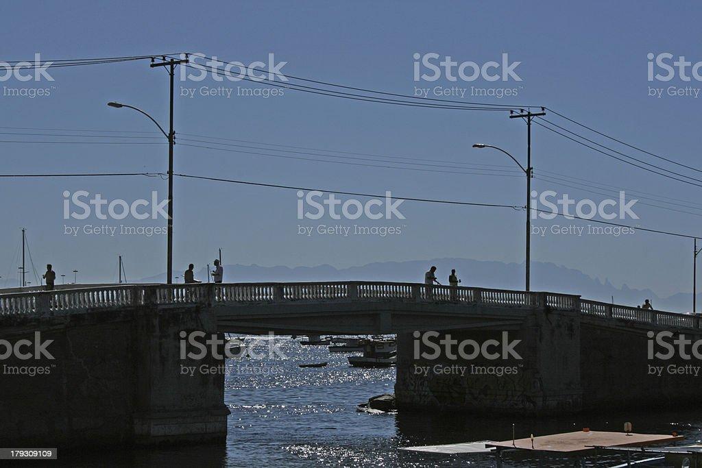 bridge of Urca's square royalty-free stock photo