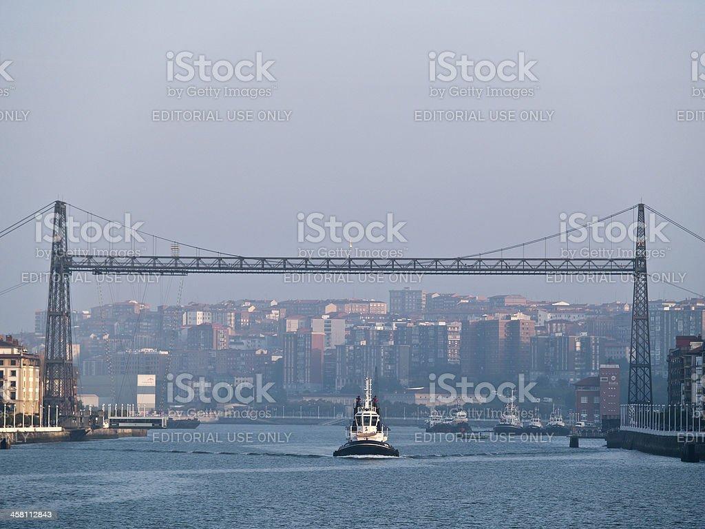 Bridge of Vizcaya, Portugalete, Bizkaia, Spain stock photo