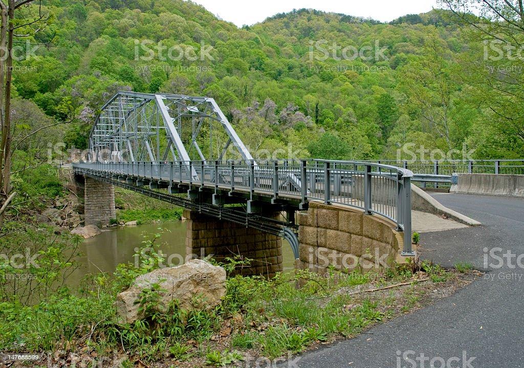 Bridge on a River in W. Virginia royalty-free stock photo